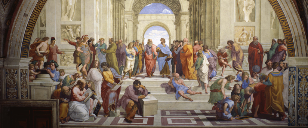 Skolan i Aten av Rafael