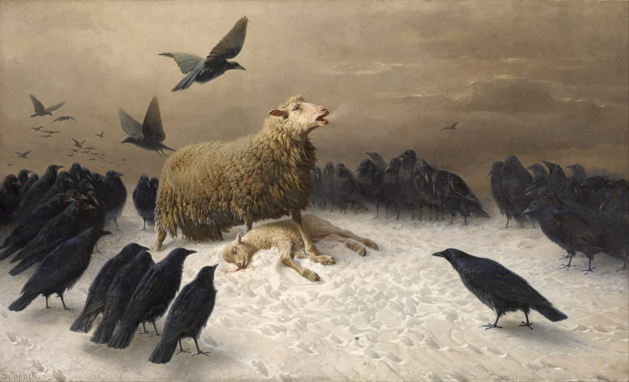 Anguish av August Friedrich Albrecht Schenck